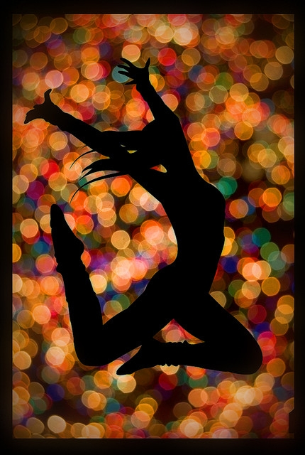 dance-when-no-ones-watching-bokeh-silhouette