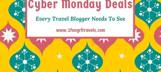 Black Friday/Cyber Monday Deals Every Travel Blogger Needs To See