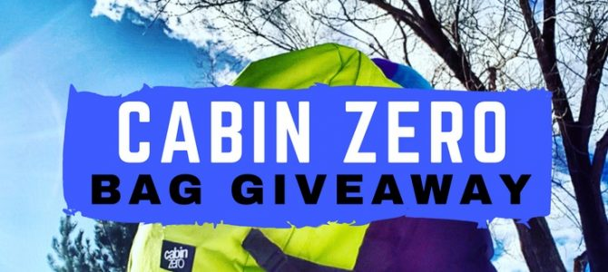 Cabin Zero Bag Giveaway PLUS a Blog Update!
